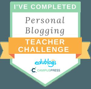 Personal Blogging Teacher Challenge Badge